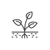 Sprout Logo. One Shape Style Plant With Seed And Green