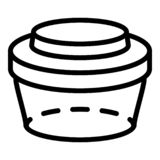 A child's lunchbox stock vector. Illustration of container