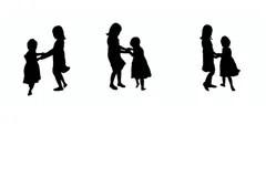 Children Silhouette Stock Illustrations