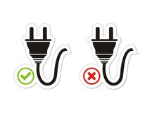 Connect Disconnect Button Sets Stock Illustration