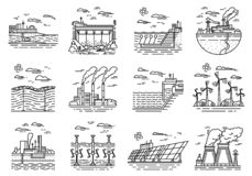 Oil And Gas Manufacturing And Industrial Equipment Vector