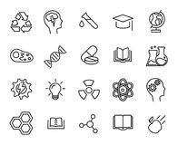 Clinical Medical Laboratory Line Vector Icons Set Stock