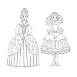Livre De Coloriage Ballerine Illustration de Vecteur