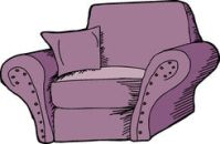 Purple Chair Isolated Stock Photos, Images, & Pictures ...
