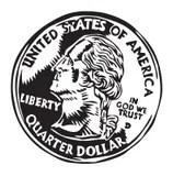 Quarter Stock Illustrations