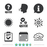 Quiz Stock Illustrations