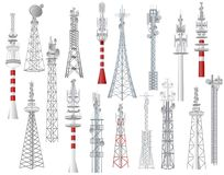 Broadcast Tower Stock Illustrations
