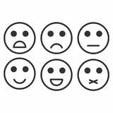 Feedback In Form Of Emotions, Smileys, Emoji. Stock Vector
