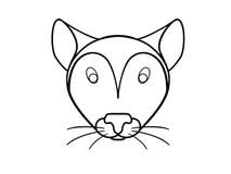 Livro para colorir, rato ilustração do vetor. Ilustração