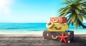 Ready For Summer Vacation Travel Background Stock Image Image Of Retro Starfish 114574299