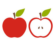 red apple cut stock vector