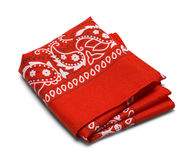 Folded white bandana