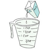 Measuring cup stock photo. Image of handle, optimist, full