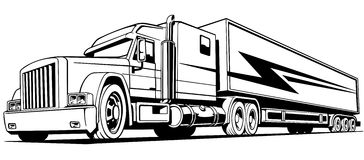 Lorry and truck stock vector. Illustration of nobody