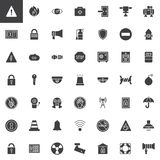 Pixel Perfect Security And Protection Flat Icons Stock