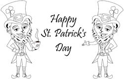 Saint Patricks Day Leprechaun Smoking Pipe Colouring Book