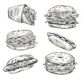 Sandwiches Stock Illustrations