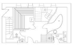 Floor Plans on grid paper stock image. Image of plan