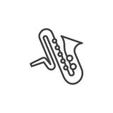 Isolated saxophone outline stock vector. Illustration of