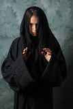 Scary nun in a cape Royalty Free Stock Photos