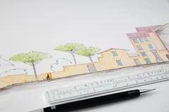 Schizzo Della Piazza Di Spagna Illustrazione di Stock  Immagine 42573091