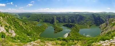 Schne Landschaft Der Schlucht Des Flusses Uvac In Serbien Stockfoto  Bild 55889701