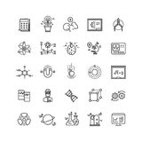 Chemical Laboratory Equipment Linear Icons Set Stock