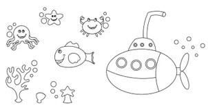 Submarine Stock Illustrations