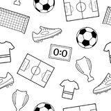 Seamless Pattern With Sport Icons Stock Vector