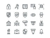 Vector Spy And Security Icons Set Stock Vector