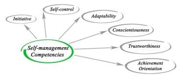 Self-management stock illustration. Illustration of goal