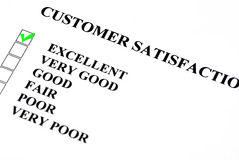 Poor Very Bad Customer Quality Survey Form Stock Photo