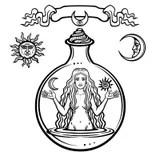 Alchemical Symbols And Magickal Sigils Stock Vector