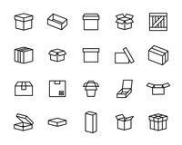 Set Of Packing Symbols Icon For Box On White Background