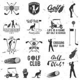 Golfer, Golf Ball, & Golf Flag Silhouette Stock Photo