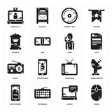 Tv radio icons stock vector. Illustration of object