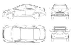 Car outline set stock vector. Illustration of sedane