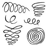 Spiral Movement In Circle Shape. Design Elements Stock