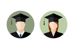 students student icons cartoon college female university vector male graduation graduate illustration flat icon dreamstime smiley emoticons face preview