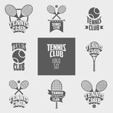 Retro Poster Design For Tennis Tournament Stock Vector