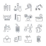 Chemical icons set stock vector. Illustration of molecule