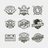 Baseball sport team badges stock vector. Illustration of