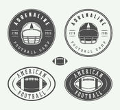 Vintage American Football Or Rugby Ball Logo, Badge Or