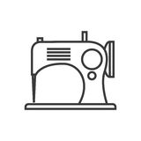 Retro Tailor Sign Of Sewing Machine Royalty Free Stock