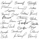 Collection Of Handwritten Signatures. Personal Contract