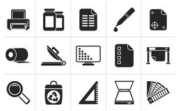 Commercial print icons stock vector. Illustration of