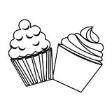 Silhouette Food And Dessert Icon Set Stock Vector