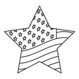 USA star flag design stock vector. Illustration of patriot