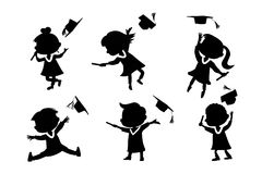 Graduation Silhouettes Stock Photos, Images, & Pictures