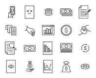 Vector Linear Icons Business Economic Development Stock
